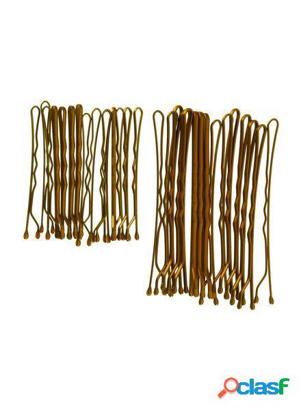 Hema lot de 30 épingles à cheveux (marron)