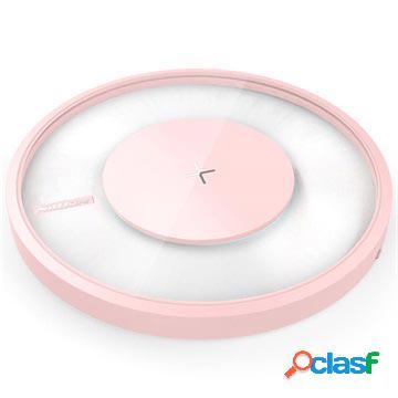 Chargeur rapide sans fil avec lumière led nillkin magic disk 4 - rose