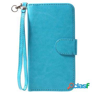 Etui portefeuille détachable 2 en 1 pour iphone x / iphone xs - bleu