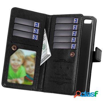 Huawei p9 lite multifunctional wallet case - black
