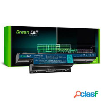 Batterie green cell pour acer aspire, travelmate, gateway, p.bell easynote - 4400mah