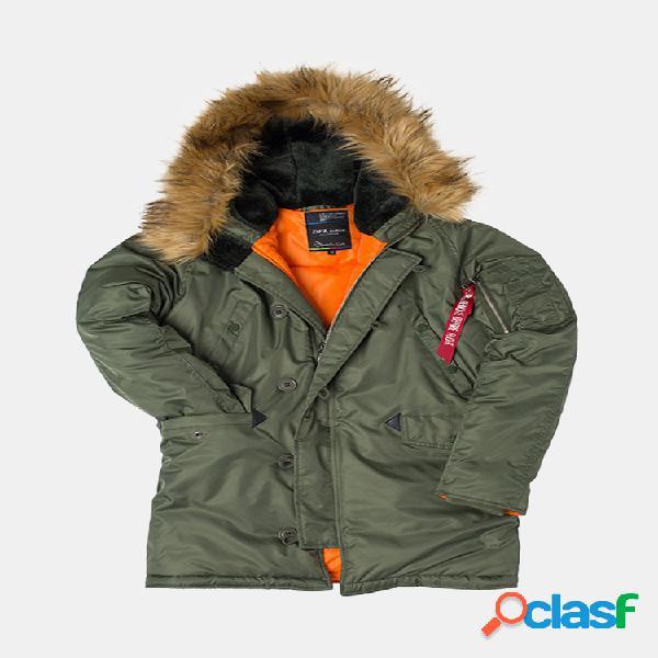 Manteaux d'hiver à capuchon pour hommes - manteau chaud sport