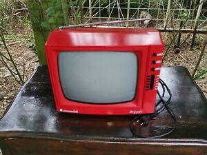 Téléviseur vintage rouge brandt 31409 compact line tv 31