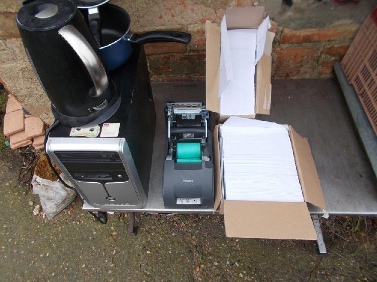 Unité centrale + imprimante a ticket faire prix occasion,