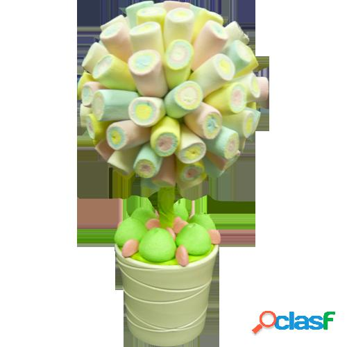 Centre de table bonbons l'arbre roulã© vert