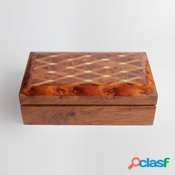 Boîte à bijoux en bois - long: 20 cm - larg: 12 cm - haut: 6 cm