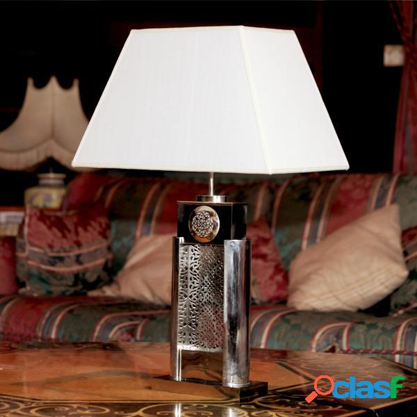 Lampe en maillechort - long: 44 cm - larg: 18 cm