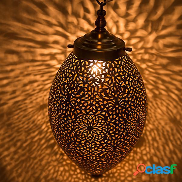 Plafonnier oeuf en cuivre - Haut: 37 cm - Diam: 18 cm