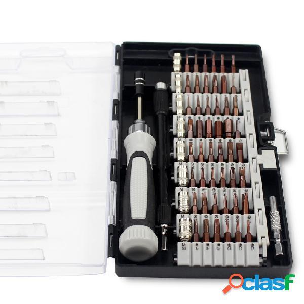 Jeu de tournevis de précision mis à niveau de la version 6100b, kit de réparation de 56 composants électroniques multi-bits