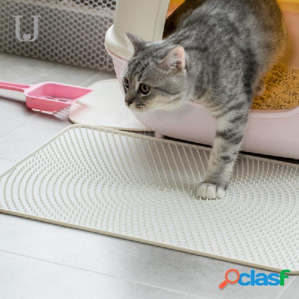 Jordan & judy jj-pe0014 matière en silicone pour tapis de litière imperméable blanche pour animal de compagnie
