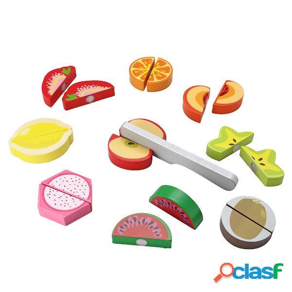 Jeu de rôle en bois pour enfants jeu de nourriture jeu de coupe pour légumes