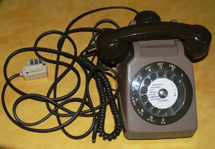 Ancien téléphone à cadran vintage socotel s63 occasion,