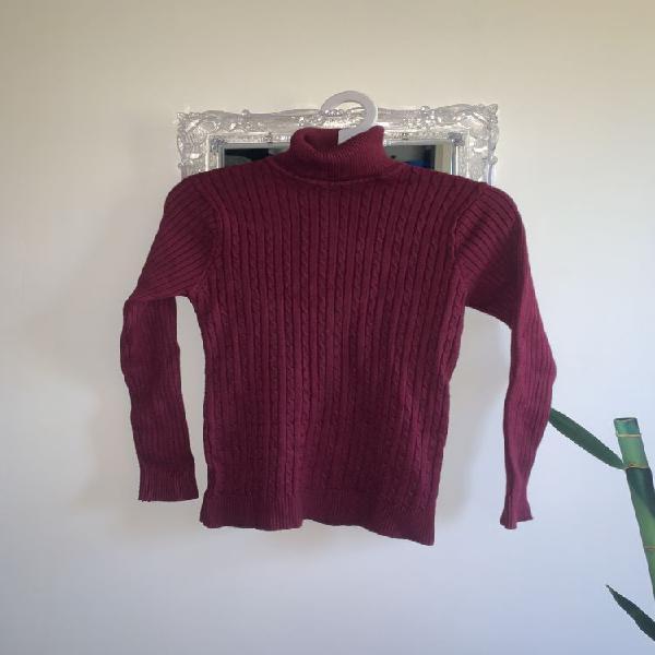 Pull col roulé manches longues chandail en tricoté