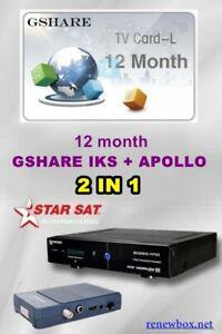 Solution renewbox gshare+a.p.o.l.l.o 12 mois starsat -