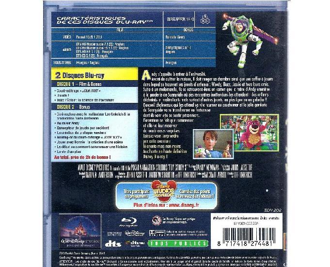 blu-ray film pixar disney toy story 3