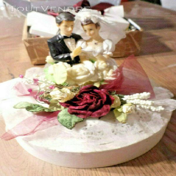 Decoration de table mariage couple de mariés en resine