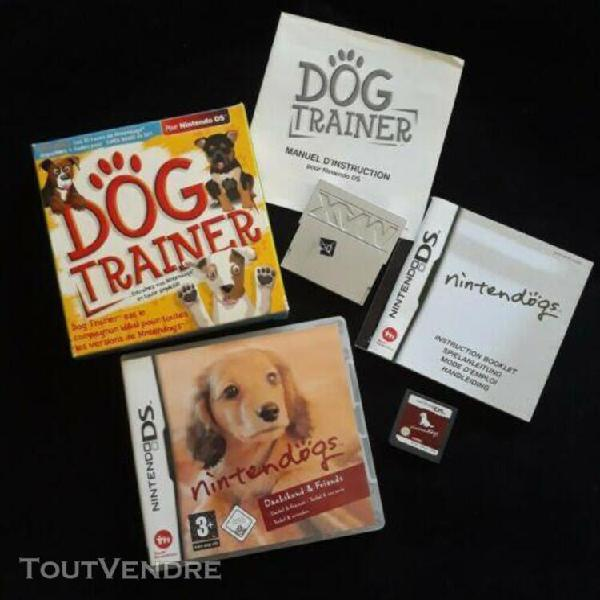 Lot jeu nintendogs teckel + dog trainer nintendo ds