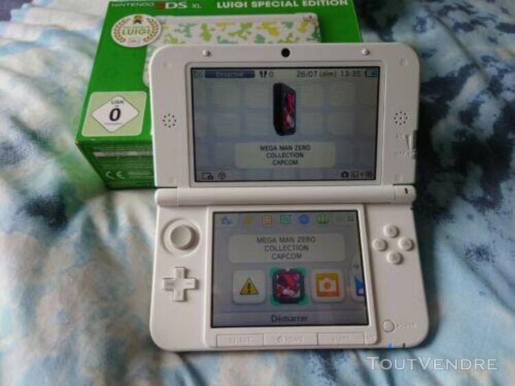 Nintendo 3ds xl luigi special edition blanc console portable