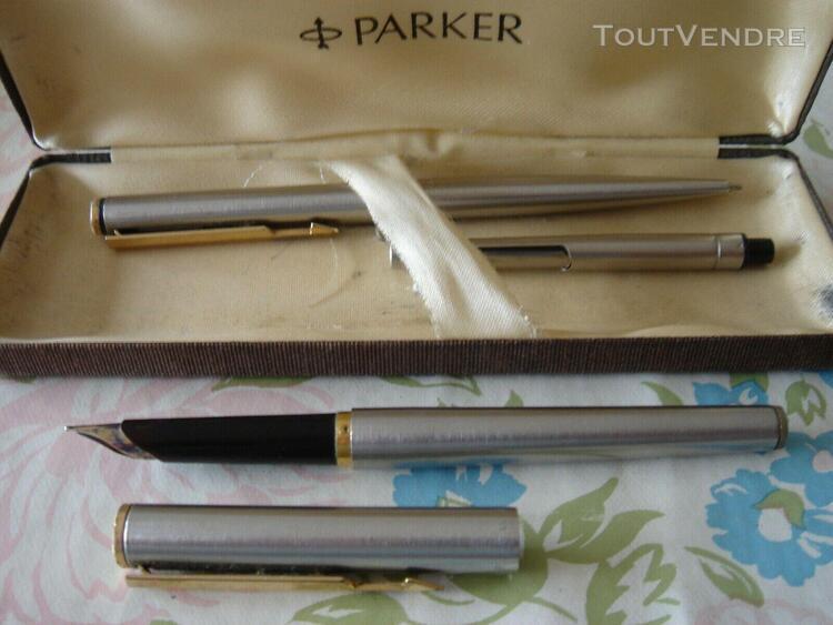 Parure stylo plume + porte-mine parker d'occasion