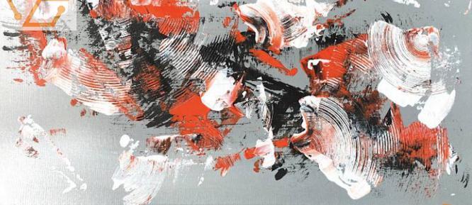 peinture abstraite sur toile neuve