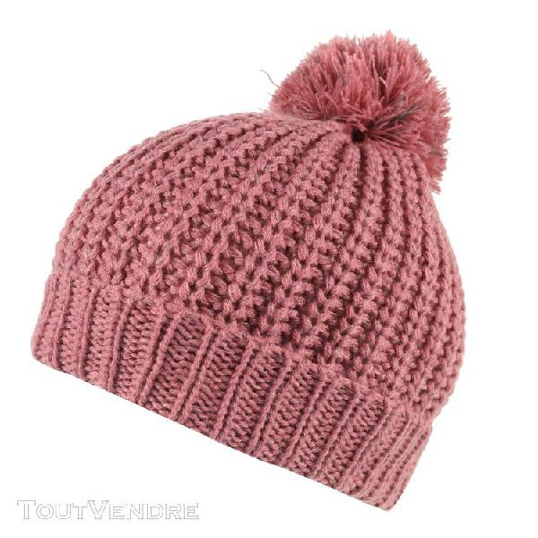 Regatta - bonnet a pompon luminosity ii - enfant (rose) - ut