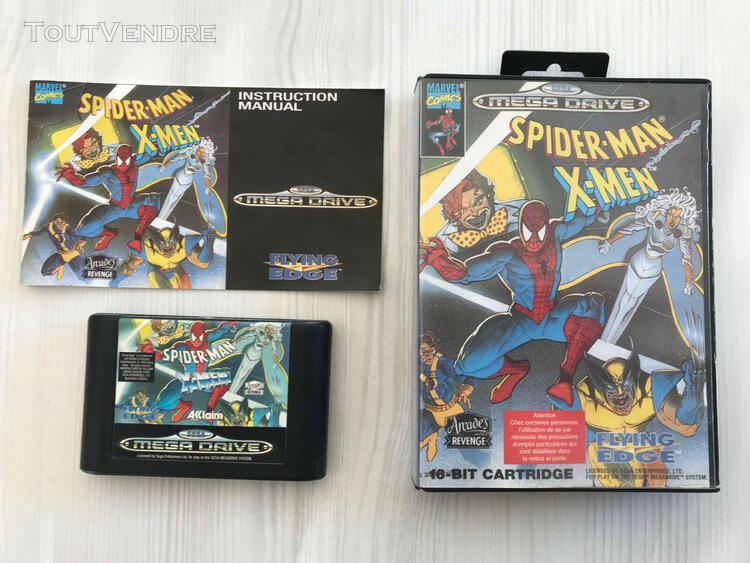 Spider-man x-men arcade's revenge sega megadrive pal complet