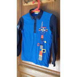 Tee shirt manches longues totem bleu dpam 8 ans