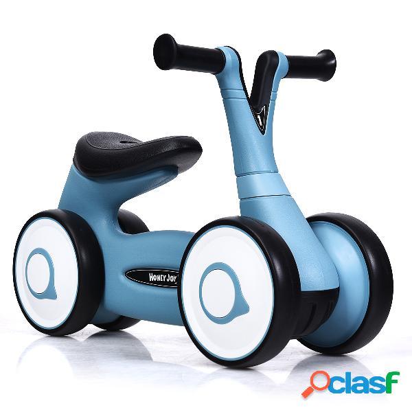 Costway vélo pour enfant sans pédales guidon réglable pour les 12 à 36 mois bleu
