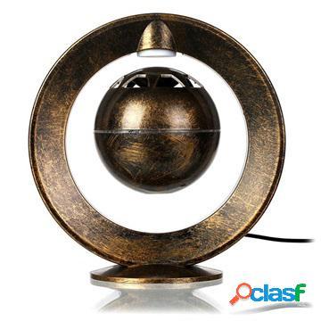 Enceinte bluetooth volante magnétique avec lampe led - doré