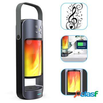 Lampe 3-en-1 enceinte bluetooth portable / chargeur sans fil / lampe à led