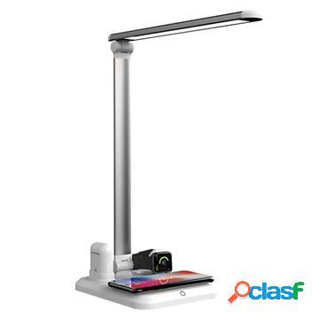 Chargeur sans fil / lampe led 4-en-1 x1 - smartphone, apple watch, airpods