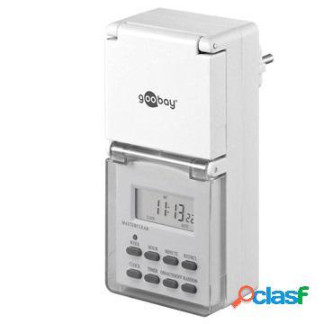 Minuteur numérique pour appareils électriques goobay ip44 - 3600w - 2 pièces