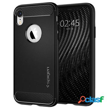 Coque en tpu iphone xr spigen rugged armor - noir mat