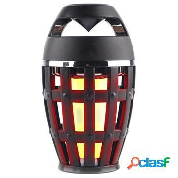 Enceinte Bluetooth LED Flammes S1 - Noir