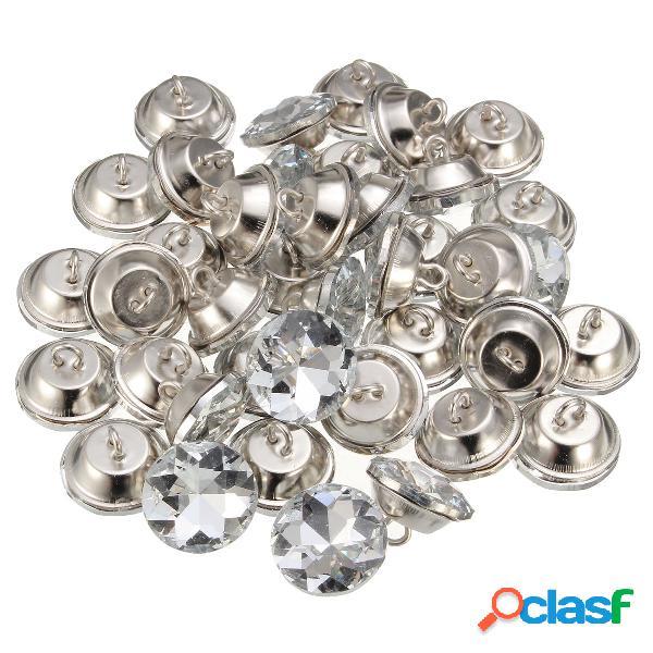 50pcs 20mm acryl boutons 2 trous imitation cristal diamant bouton vêtements vêtements accessoires diy