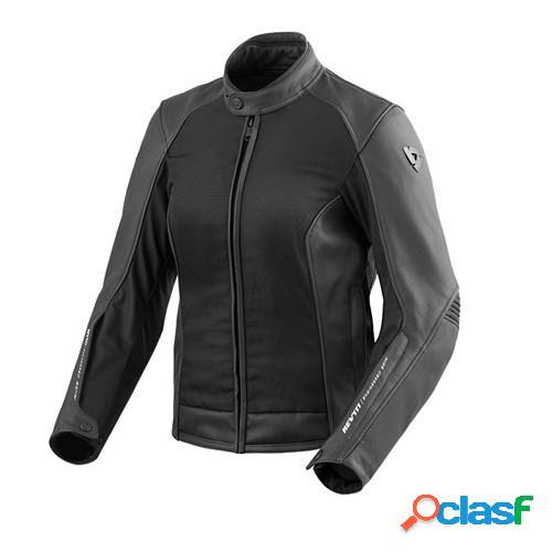 Rev'it! ignition 3 lady jacket, veste moto cuir femmes, noir
