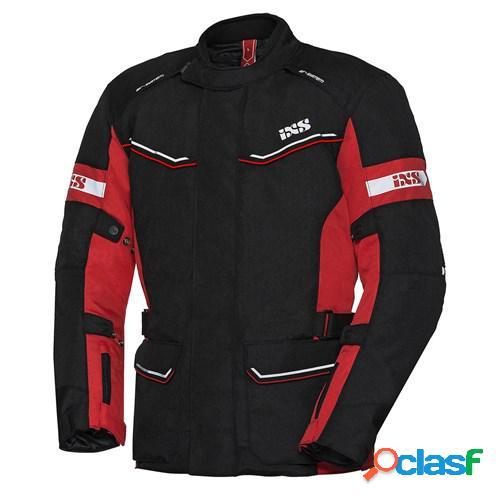 Ixs evans st lady, veste moto textile femmes, noir rouge