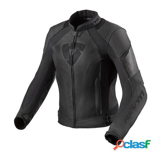 Rev'it! xena 3 lady jacket, veste moto cuir femmes, noir
