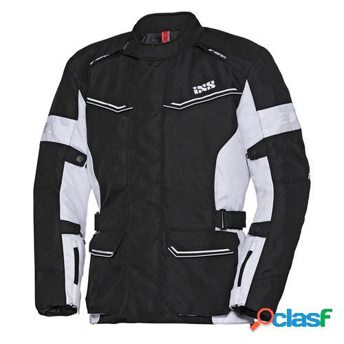 Ixs evans st lady, veste moto textile femmes, noir blanc