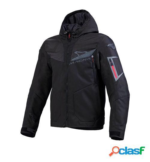 MACNA Imbuz, Veste moto textile hommes, Noir Gris