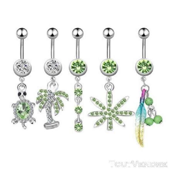 5 x piercings de nombril - bijouxtoutmimi