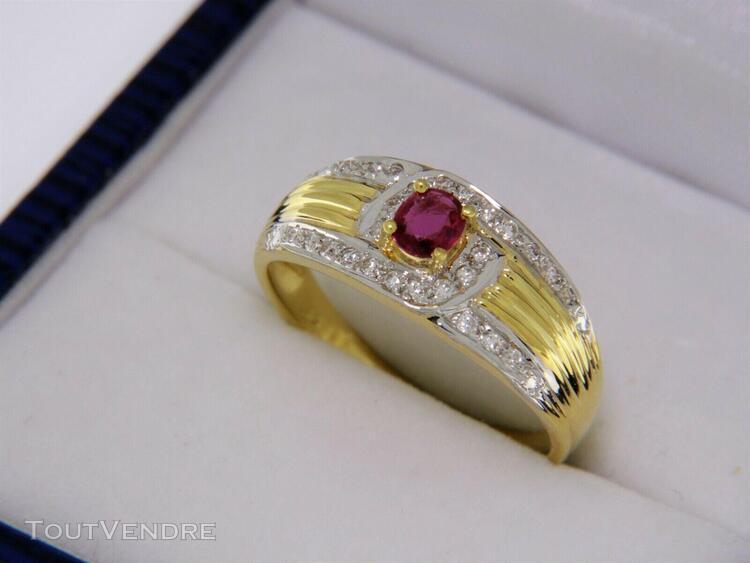 Bague or jaune 18 carats saphir et diamants