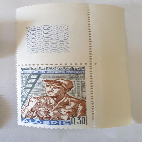 Timbre algérie 1968 émigration (1986) - 0.70 euro neuf,