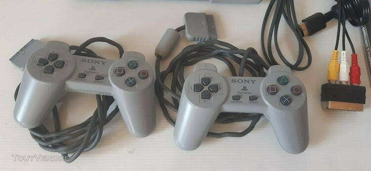 Console sony ps1 scph-5502 complete + 2 manettes + c.m + 6 j