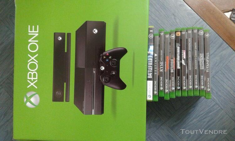 Console xbox one complète avec capteur kinect + 11 jeux