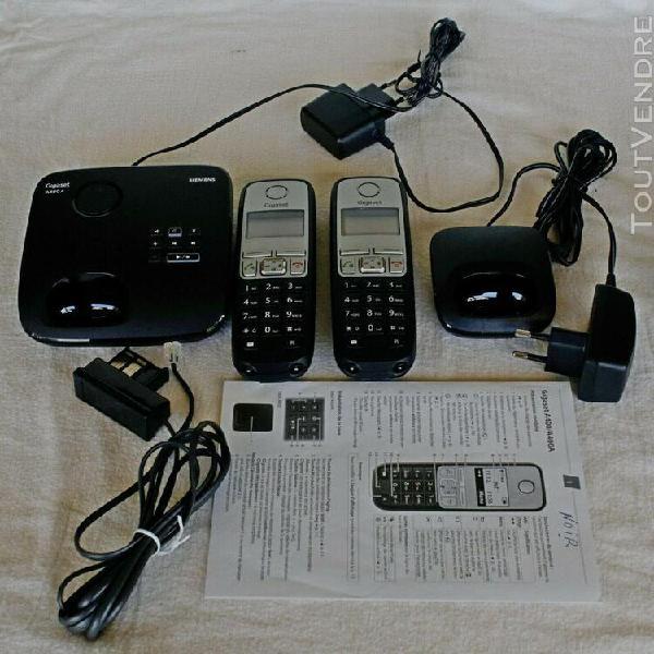 Ensemble de deux téléphones sans fil dect siemens gigaset