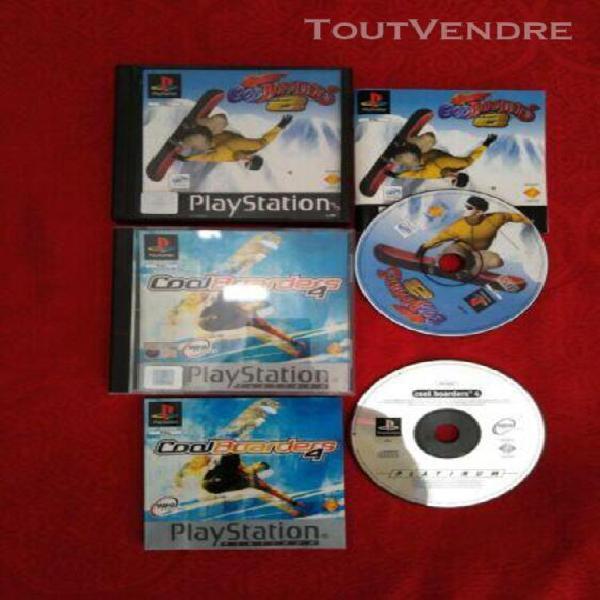 Lot jeux playstation 1 coolboarders 2 et 4