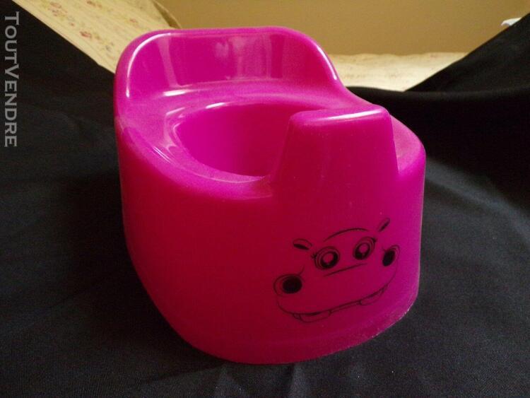 Pot bébé enfant toilette wc picto vache rose