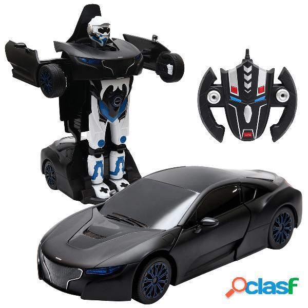 Transformation voiture robot pour enfants télécommandé rechargeable radio commande 2 en 1 noir