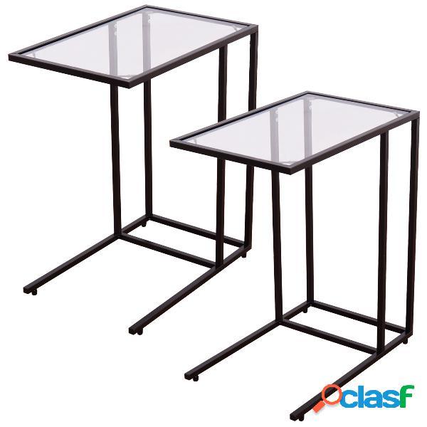 Table d'appoint en verre table basse table de chevet table de salon